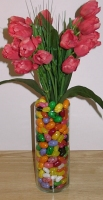 tulips, jelly beans