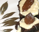 Decadent Chocolate Leaf Brownies
